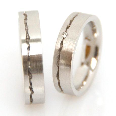 Eheringe weißgold schlicht  Ehering in Gold Platin individuell hergestellt Goldschmied ...