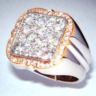 Diamant Ring in Weiss/Gelbgold 750